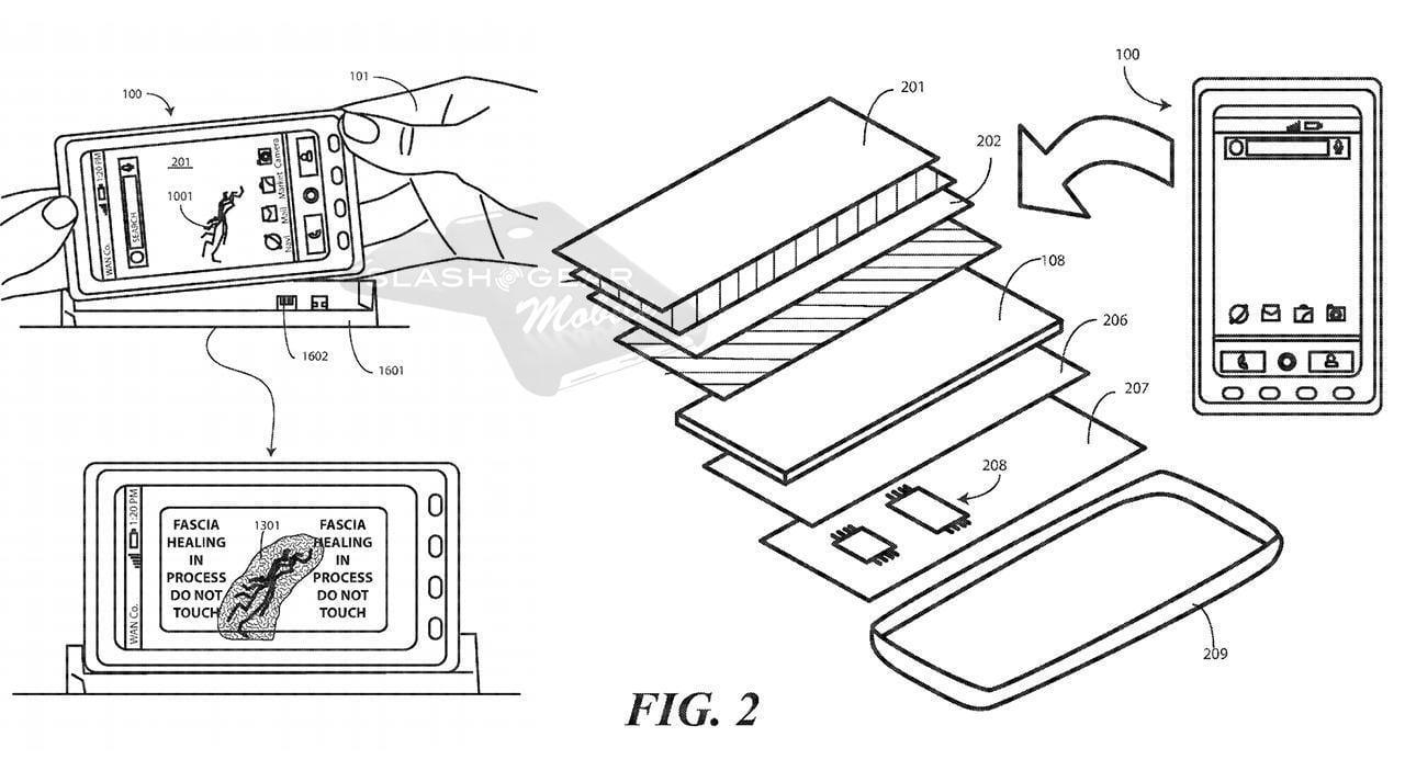 moto dock - Motorola хочет запатентовать самовосстанавливающийся дисплей