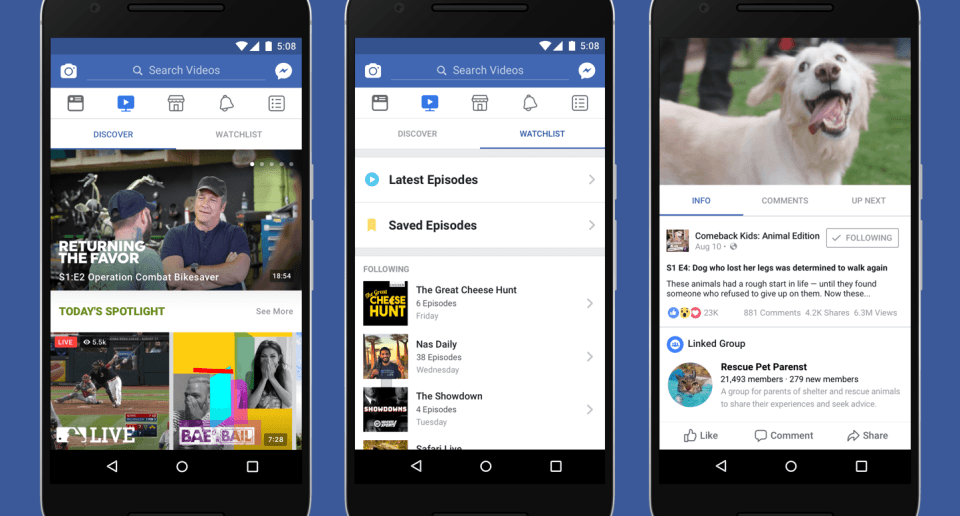 newsroom hero final blue 960x516 - Facebook анонсировал видеоплатформу Watch