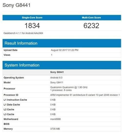 sony xperia xz1 compact geekbench spotted 01 - Sony Xperia XZ1 Compact протестировали в Geekbench