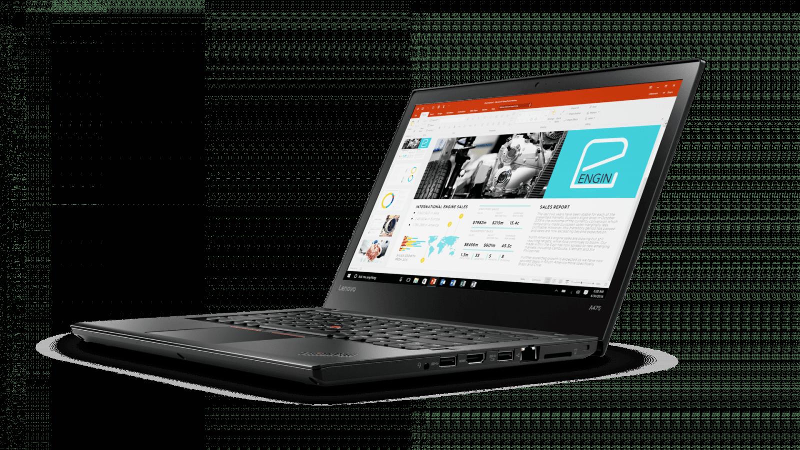 02 Thinkpad A475 14inch Hero Shot Front facing left PPT - Lenovo выпустила ноутбуки ThinkPad на процессорах AMD PRO