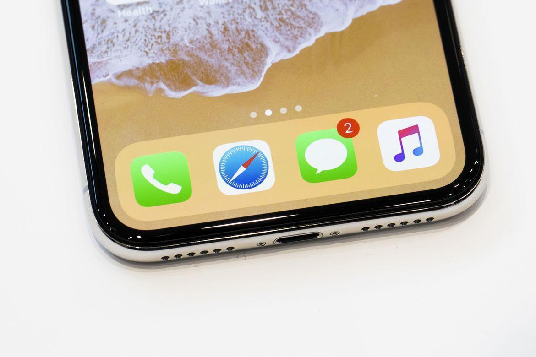 Нижняя грань iPhone X Живые фото iPhone X