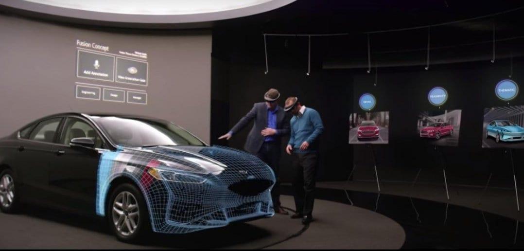 ford gololenz 1078x516 - В Ford пользуются Microsoft HoloLens