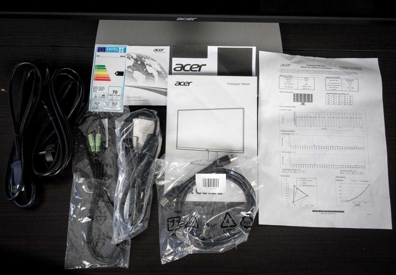 acer 320YaM27 - Обзор монитора Acer ProDesigner BM320