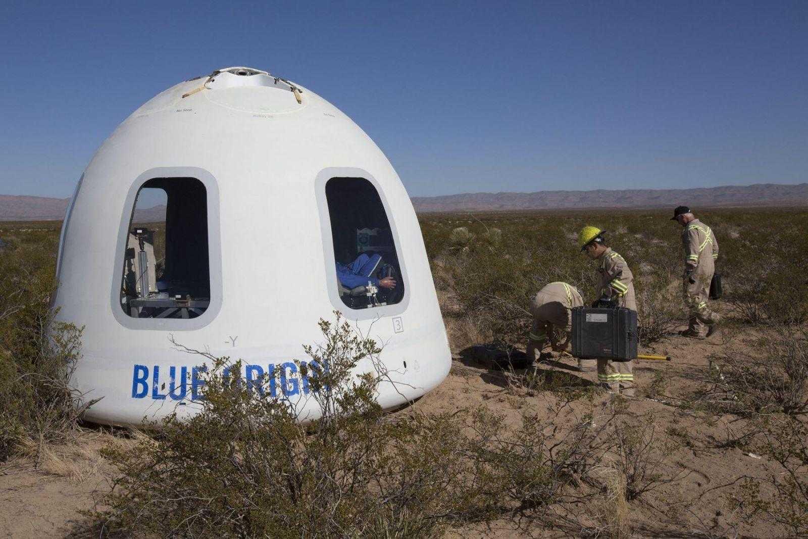 Blue Origin провела запуск свежей модификации ракеты New Shepard