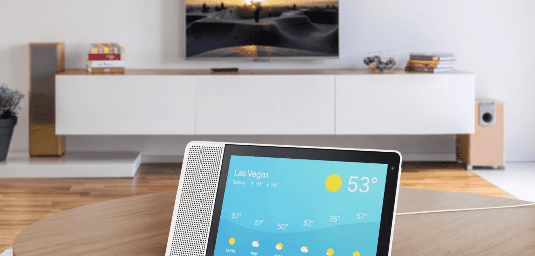 10 inch Lenovo Smart Display showing the weather 1078x516 - Lenovo представил цифрового помощника Smart Display со встроенным интерфейсом Google Assistant