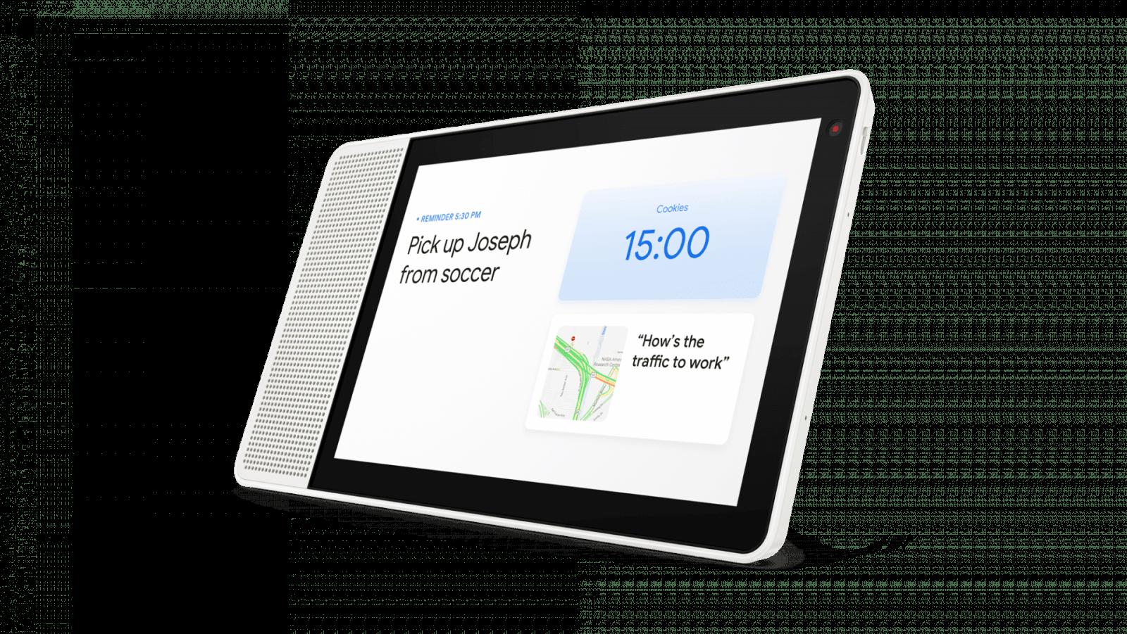 10 inch Lenovo Smart Display shows home screen - Lenovo представил цифрового помощника Smart Display со встроенным интерфейсом Google Assistant