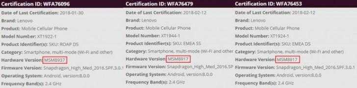 gsmarena 003 - У линейки смартфонов Moto G6 будут экраны 18:9