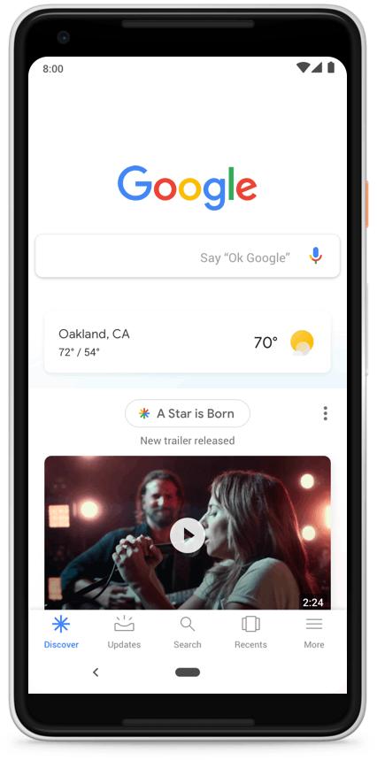 Google Feed переименован в Discover Google Feed переименован в Discover