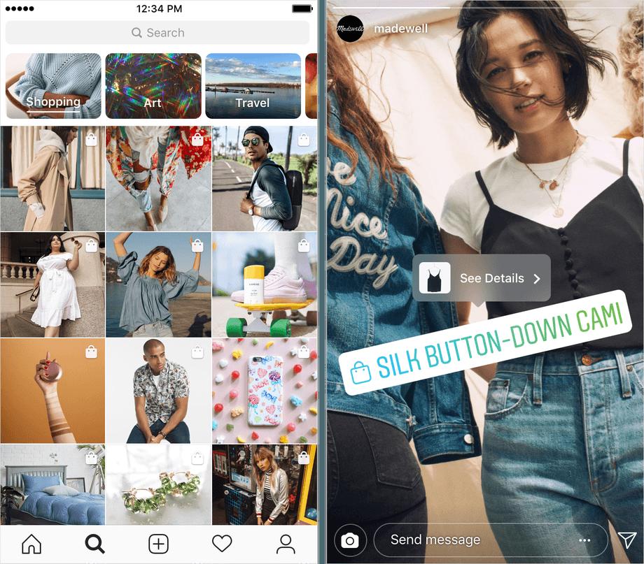 Instagram добавит вкладку с товарами в рекомендации