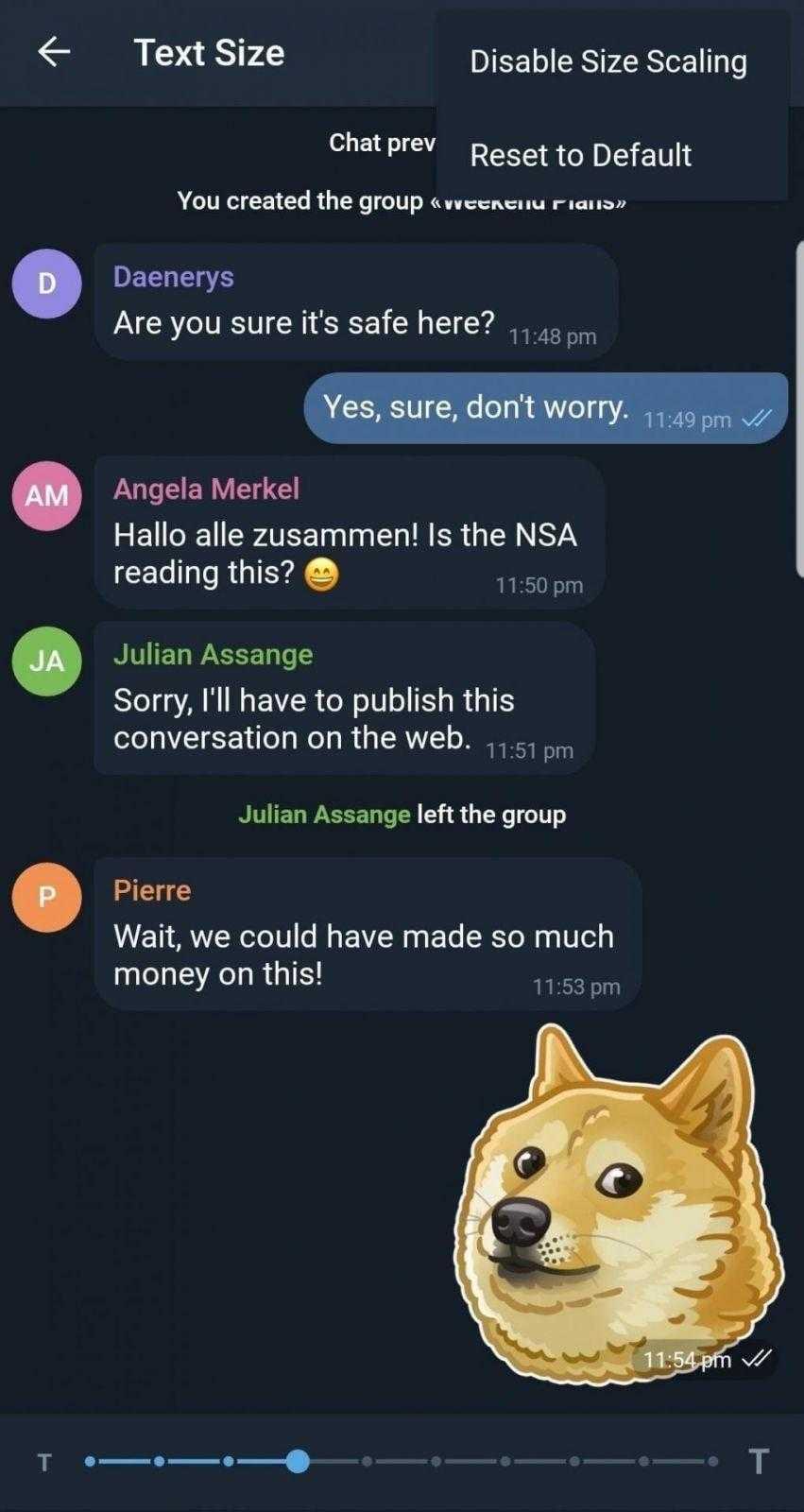 Telegram X получил поддержку Android Pie