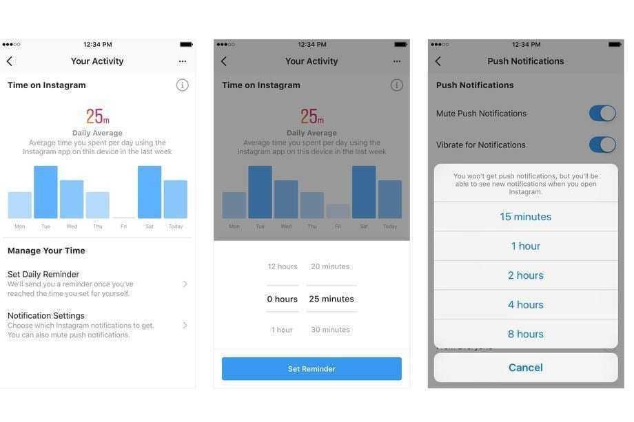 Instagram позволит ограничивать время, проведенное в приложении