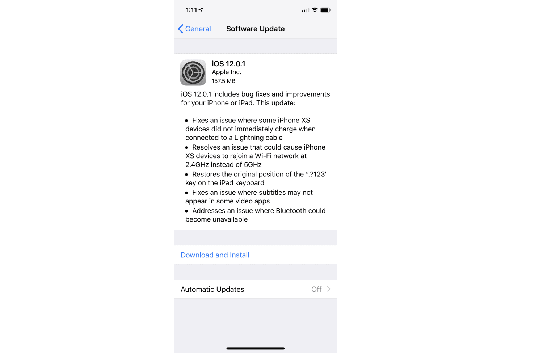 Вышло обновление iOS 12.1.1 для iPhone и iPad