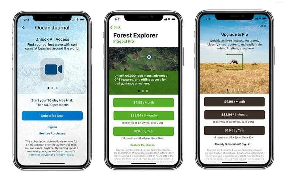 Apple ужесточила правила для платных подписок