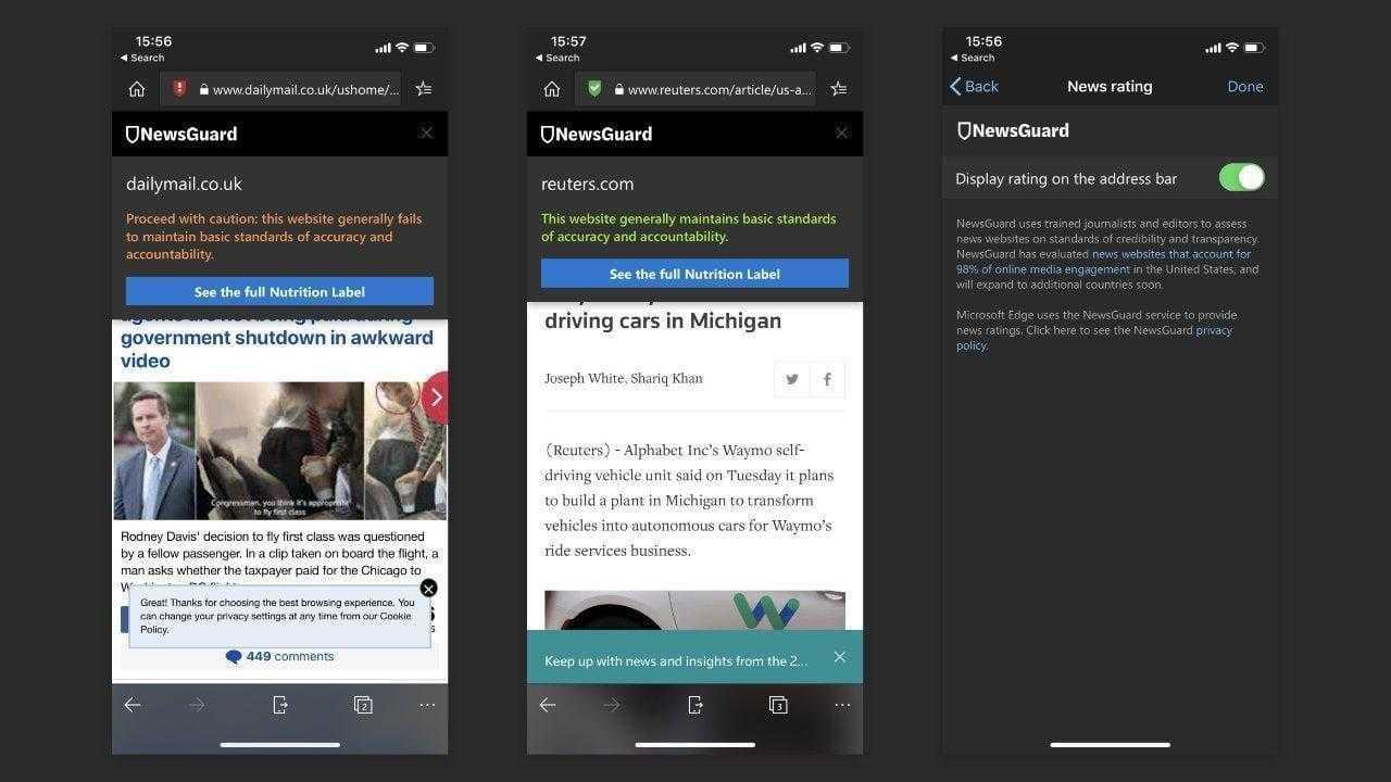 Microsoft борется с фейковыми новостями в браузере Edge