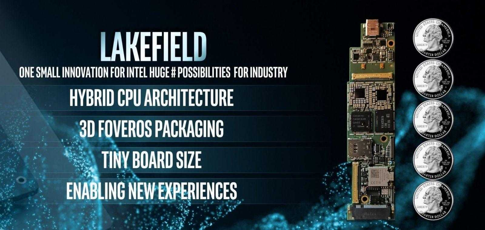 CES 2019. Intel продемонстрировала первый процессор с 3D-архитектурой стека
