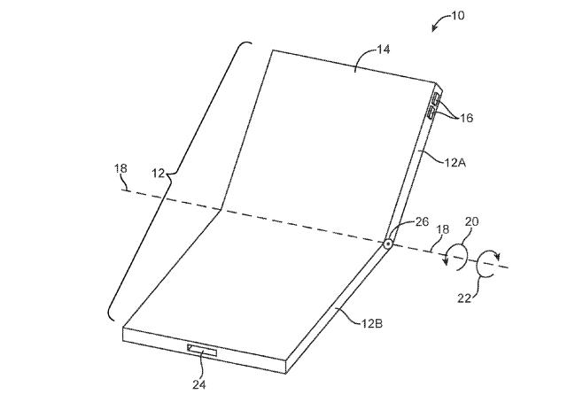 Новый патент Apple намекает на раскладной телефон
