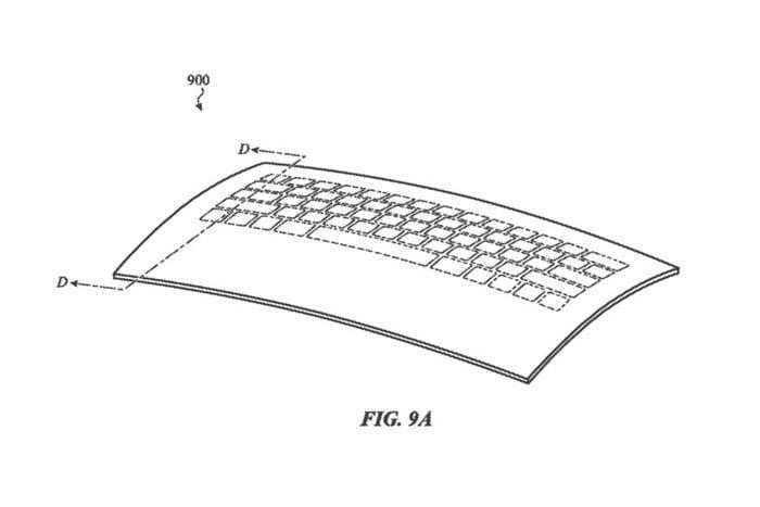 Apple запатентовала трансформируемую стеклянную клавиатуру для MacBook
