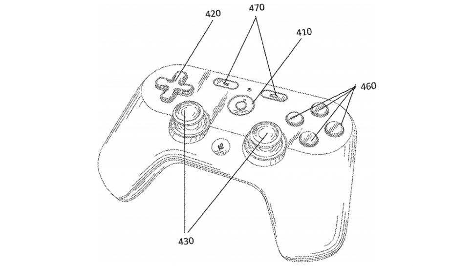 Новый патент показал контроллер для сервиса стриминга игр Google