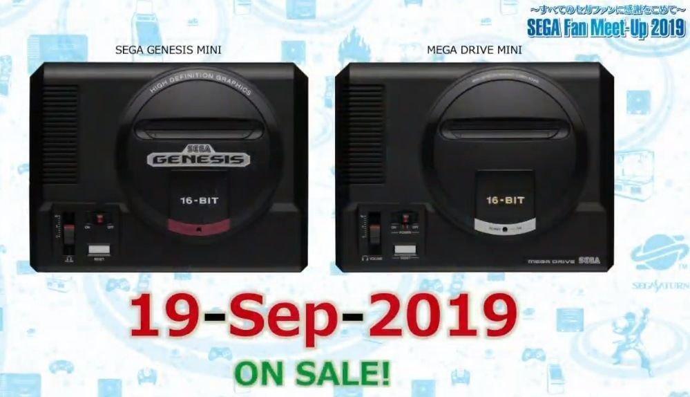 Sega выпустит классическую консоль Mega Drive Mini с 40 играми в сентябре