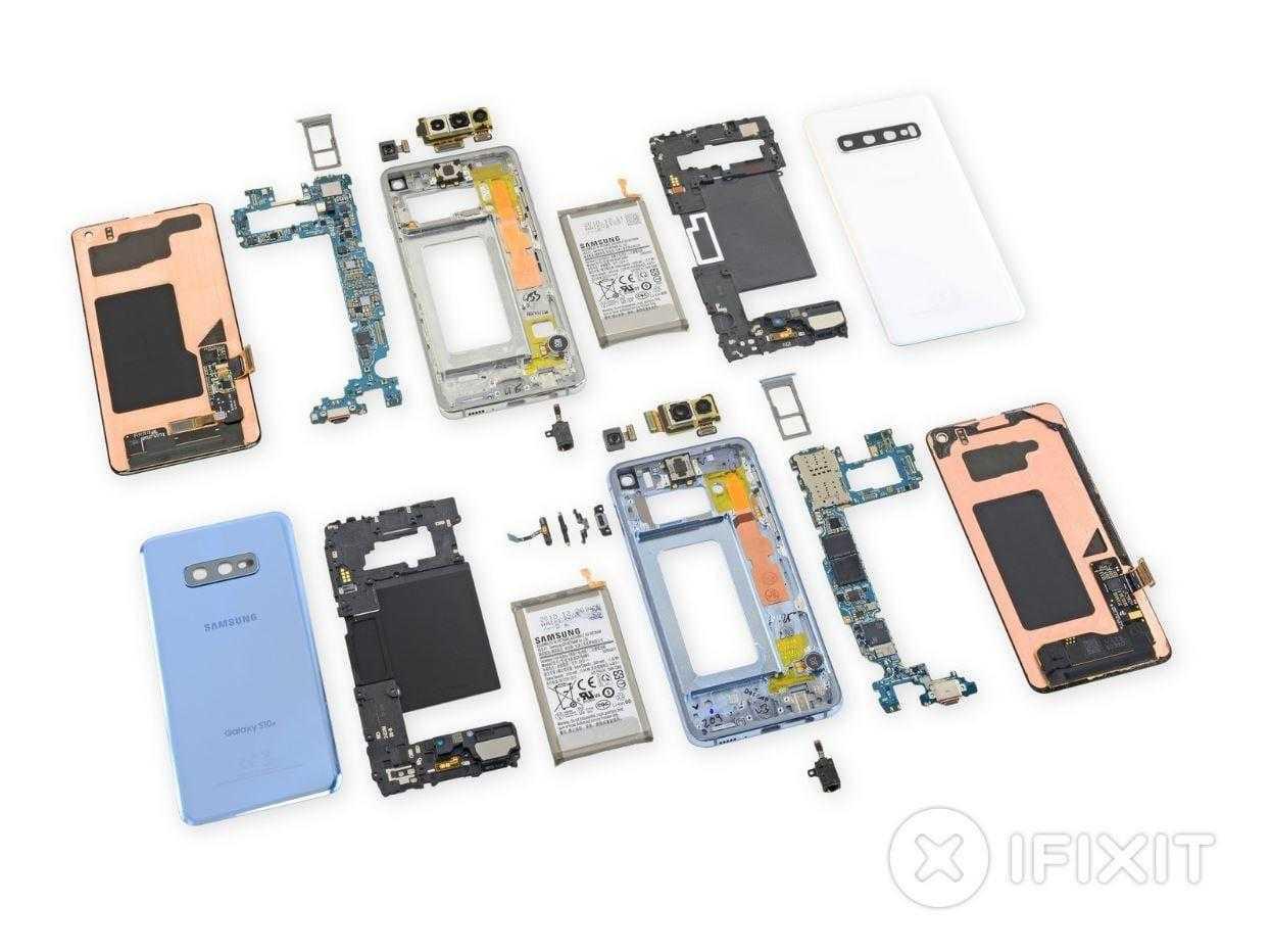 В iFixit разобрали Galaxy S10. Ремонтировать его будет сложно