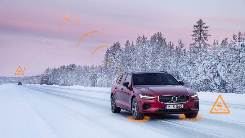 Автомобили Volvo в Европе будут предупреждать друг друга об опасных дорожных условиях