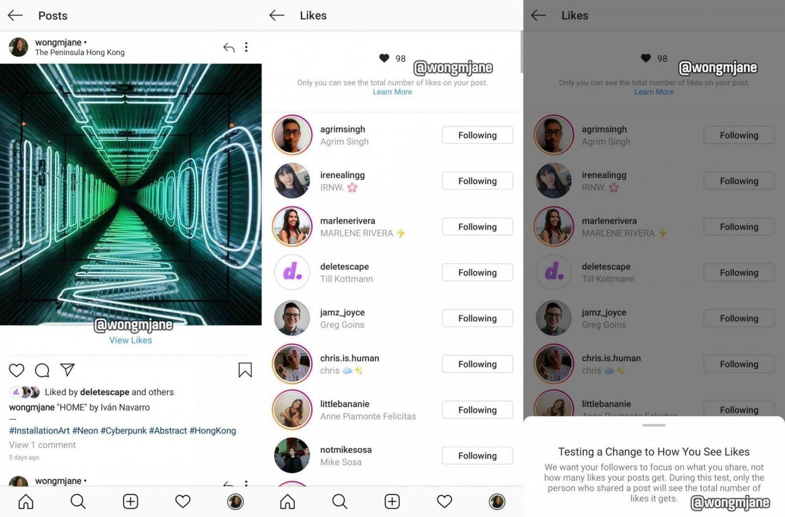 Instagram может убрать количество лайков под постом