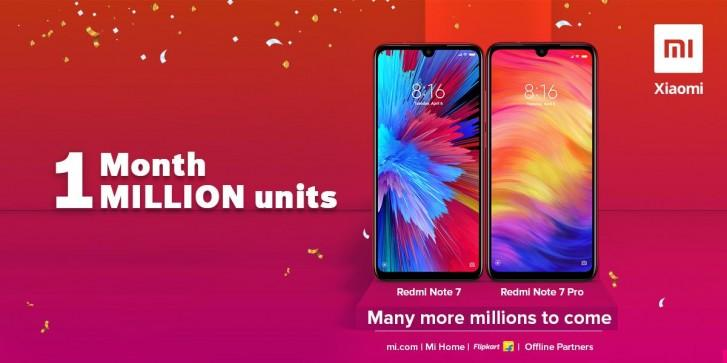 Xiaomi продала миллион устройств Redmi Note 7 и Note 7 Pro в Индии за месяц