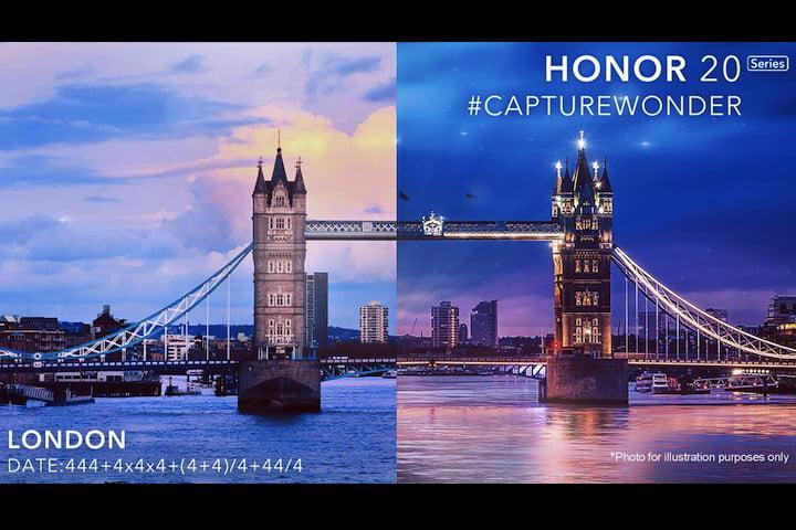 Honor представит смартфоны Honor 20, Honor 20 Lite и Honor 20i 21 мая на презентации в Лондоне