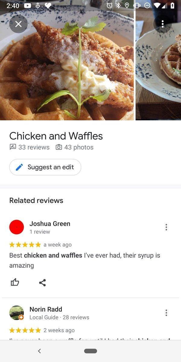 """""""Google Maps"""" тестирует краудсорсинговое меню для кафе и ресторанов"""