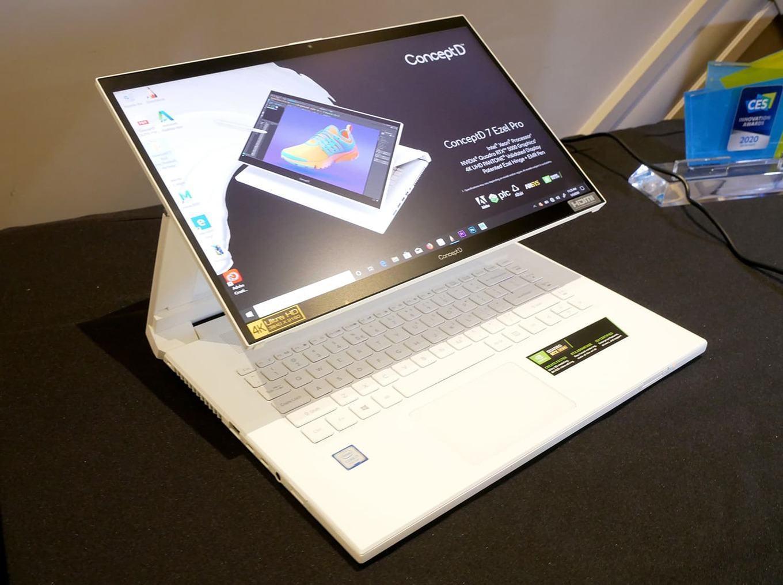 CES 2020. Ноутбук-трансформер ConceptD 7 Ezel от Acer