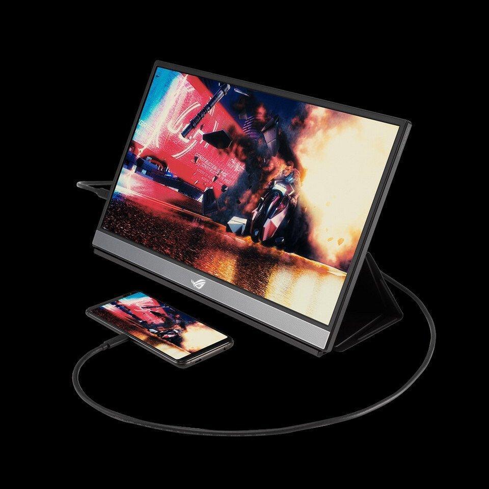 ASUS представила портативный игровой монитор Asus ROG Strix XG17AHPE