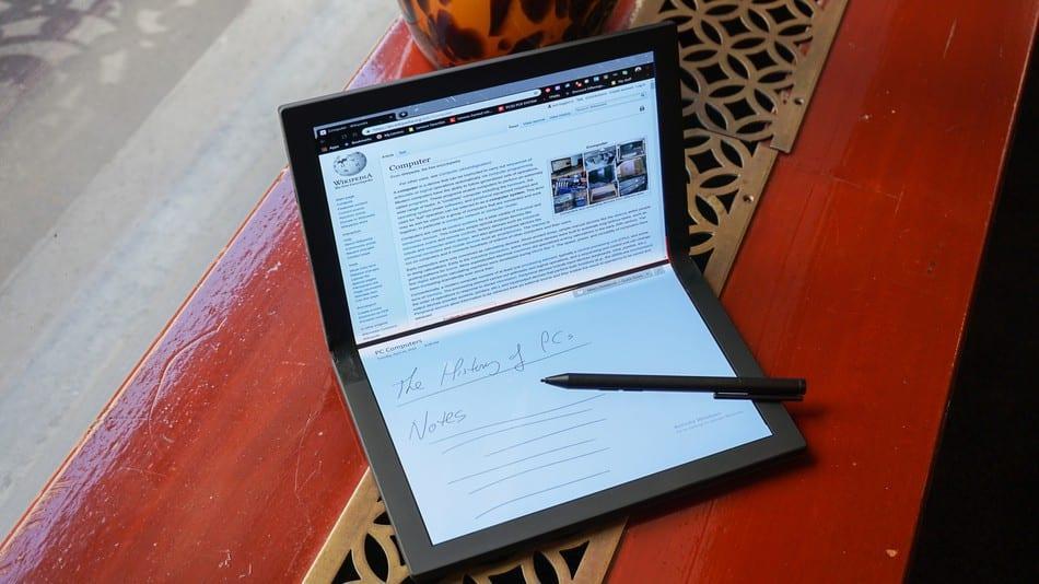 CES 2020. Lenovo сделала первый в мире ноутбук с гибким экраном