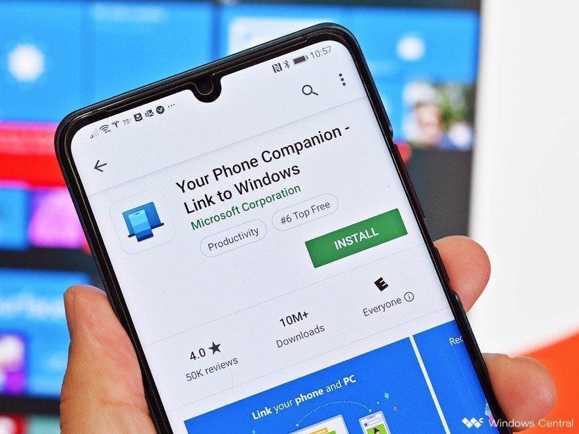 Microsoft сделает общий буфер обмена для ПК и смартфона с помощью YourPhone