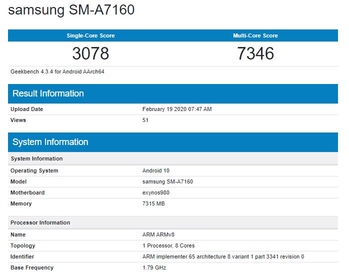 samsung-galaxy-a71-5g Samsung выпустит 5G-версию смартфона Galaxy A71