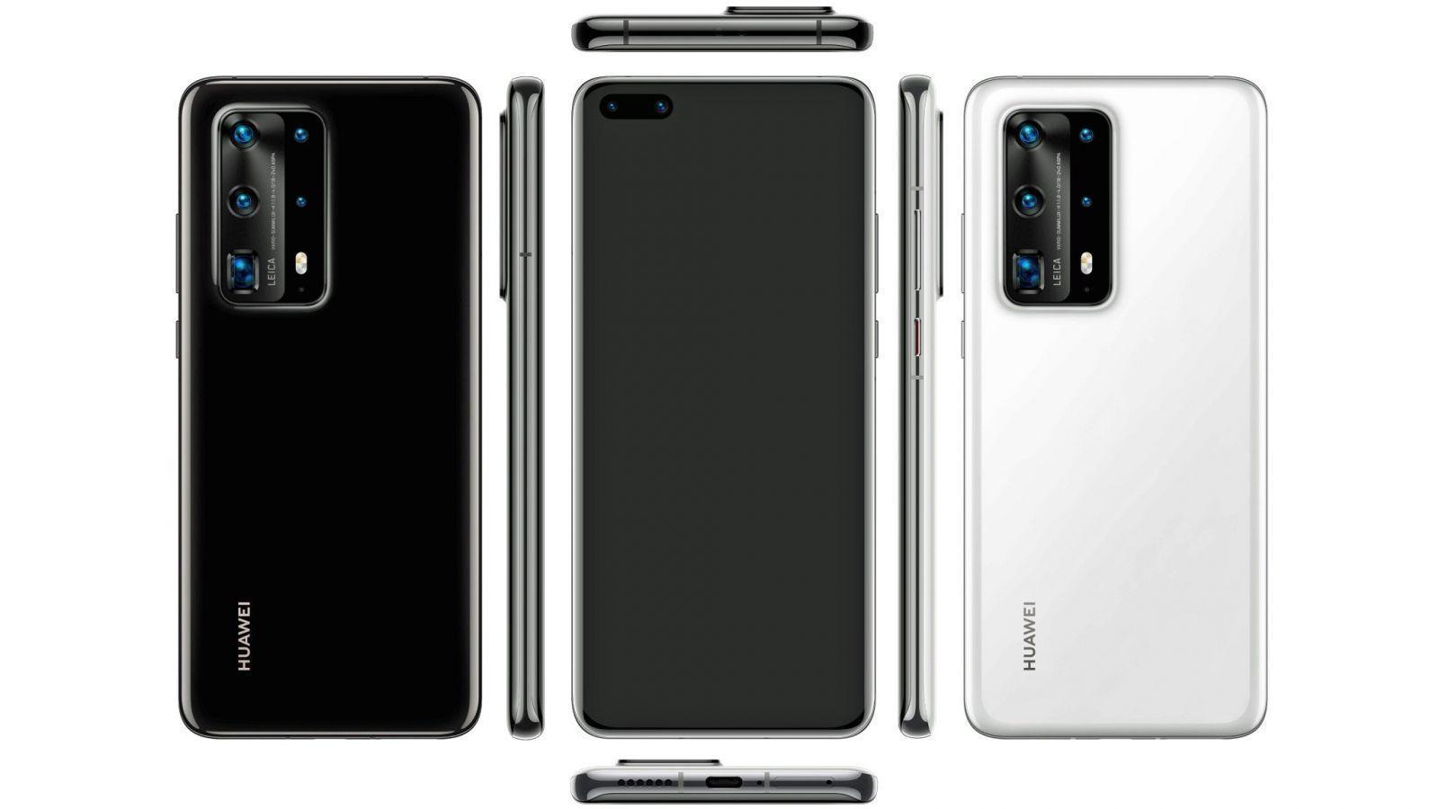 В сети появились первые изображения дизайна Huawei P40 и P40 Pro