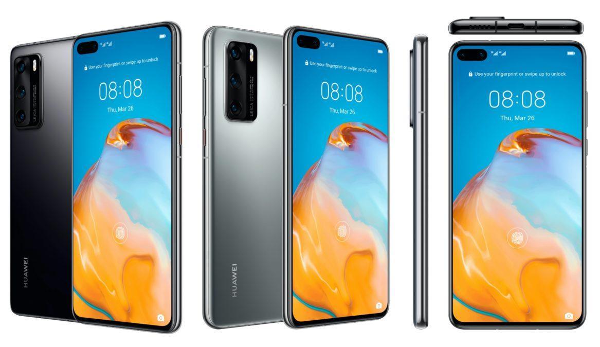 В преддверии запуска Huawei P40 и P40 Pro произошла утечка данных