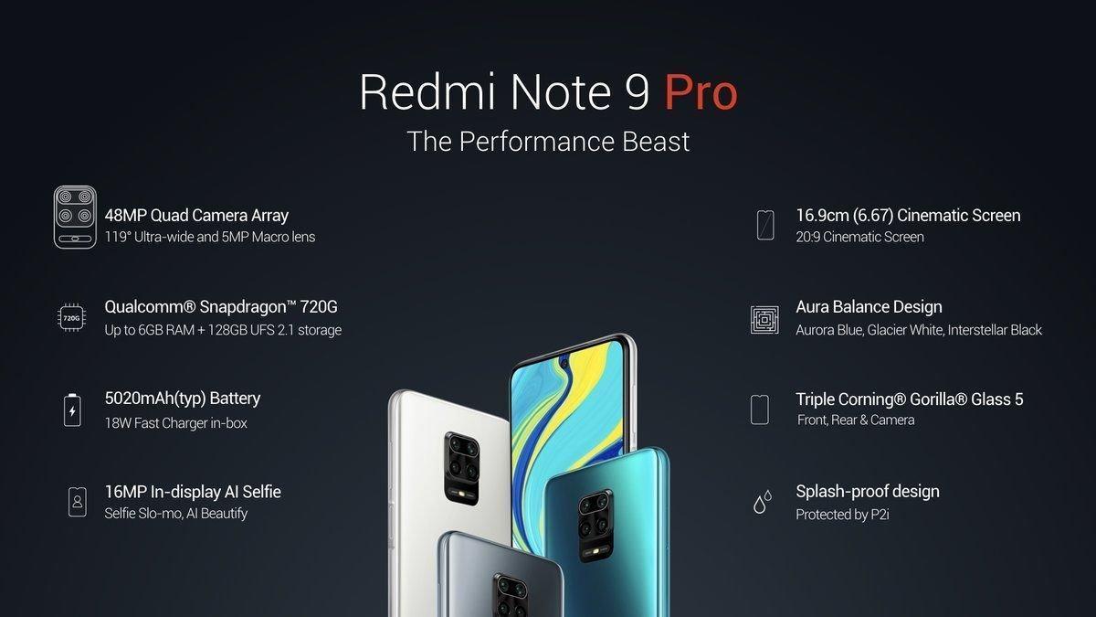 redmi-note-9-pro Redmi официально представила смартфоны Note 9 Pro  и Note 9 Pro Max