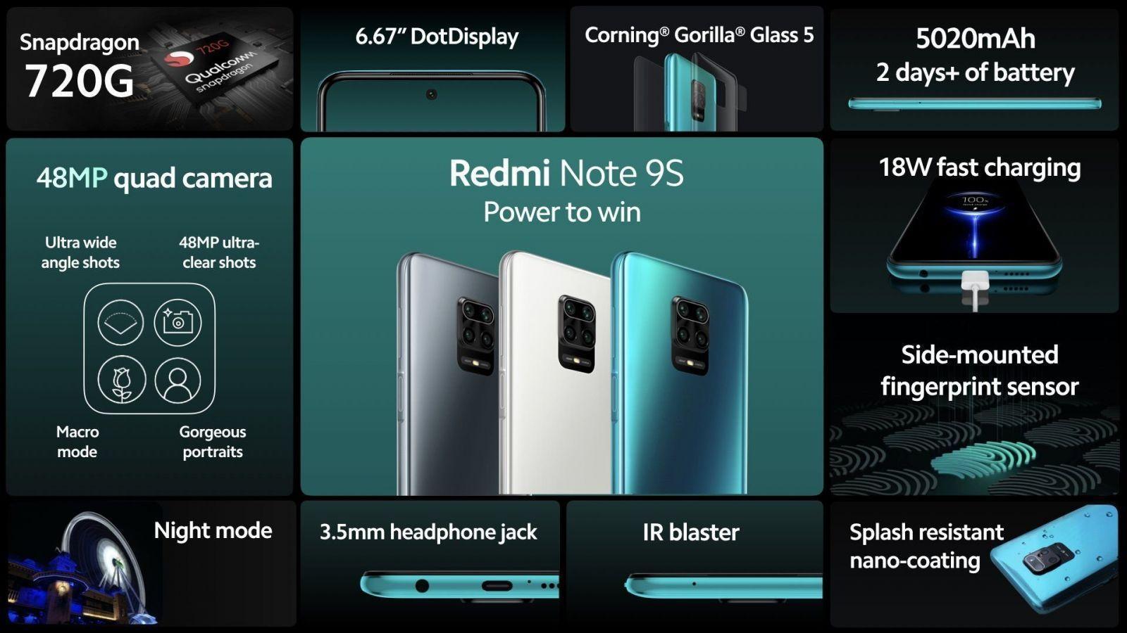 redmi-note-9s-1 Redmi представила глобальную версию смартфона  Redmi Note 9 Pro