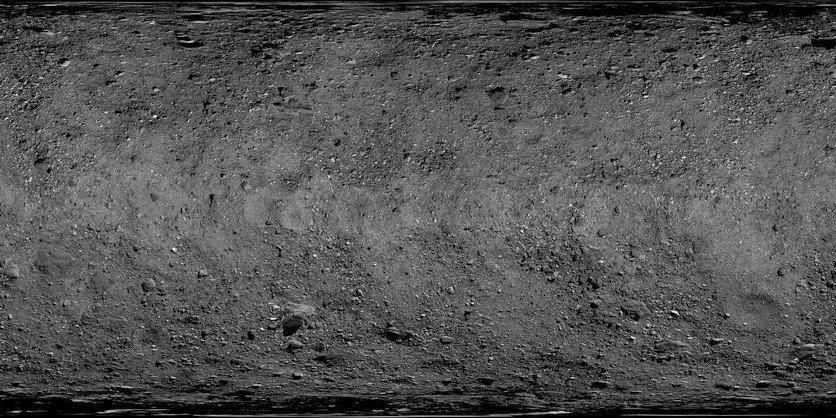NASA показали поверхность астероида Бенну в разрешении 50699x25350