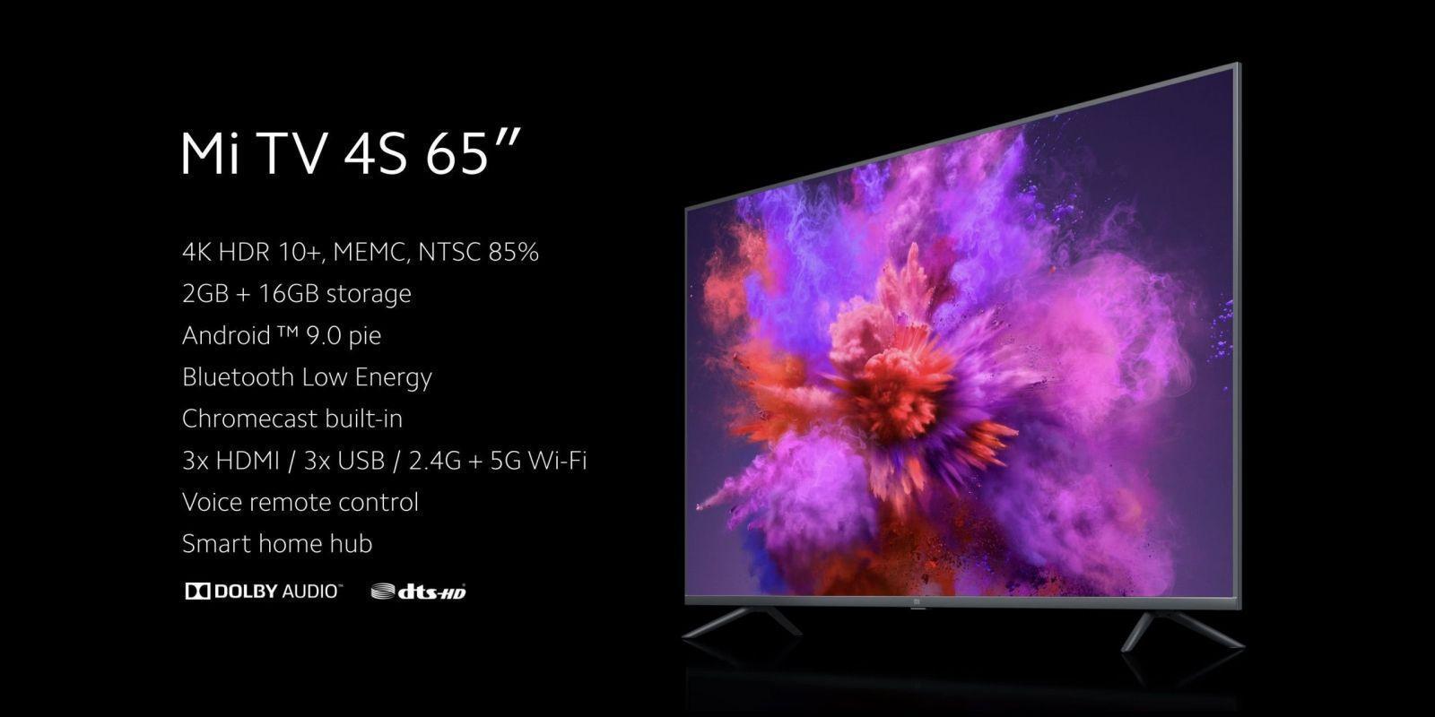 Xiaomi представила 65-дюймовый телевизор Mi TV 4S Xiaomi представила 65-дюймовый телевизор Mi TV 4S