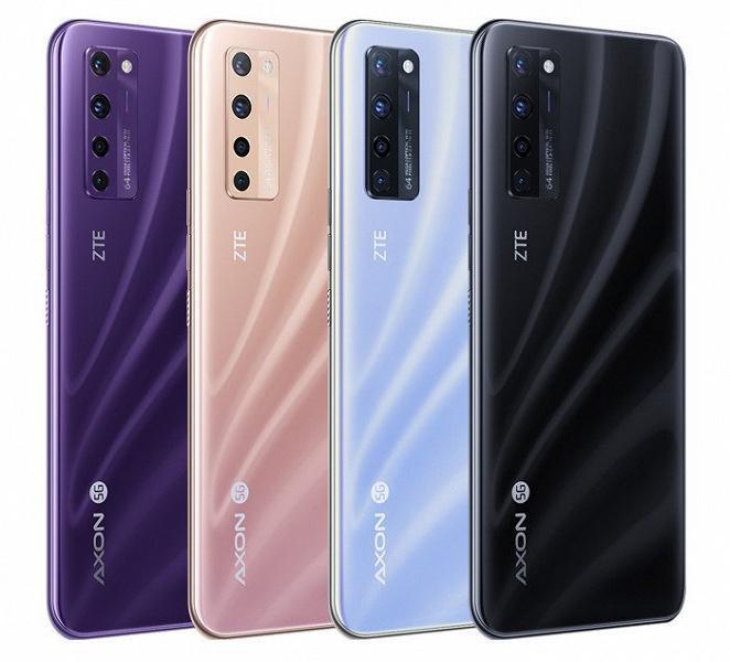 Представлен первый в мире смартфон с подэкранной камерой - ZTE Axon 20 5G