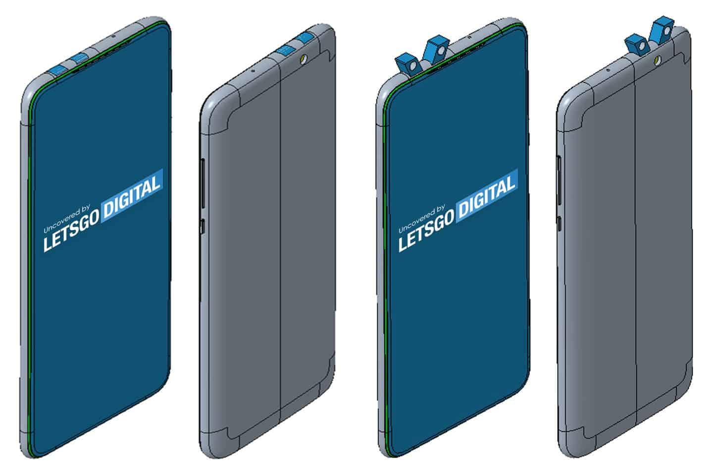 Xiaomi запатентовала смартфон с двумя выдвижными блоками камер