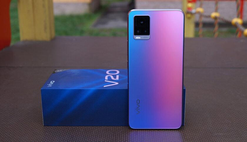 Vivo V20, первый смартфон на Android 11, поступает в продажу