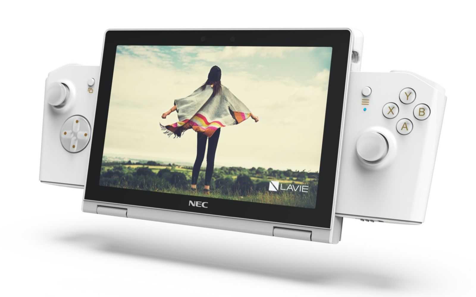 Lenovo и NEC выпустили  маленький ноутбук, трансформирующийся в  игровую приставку