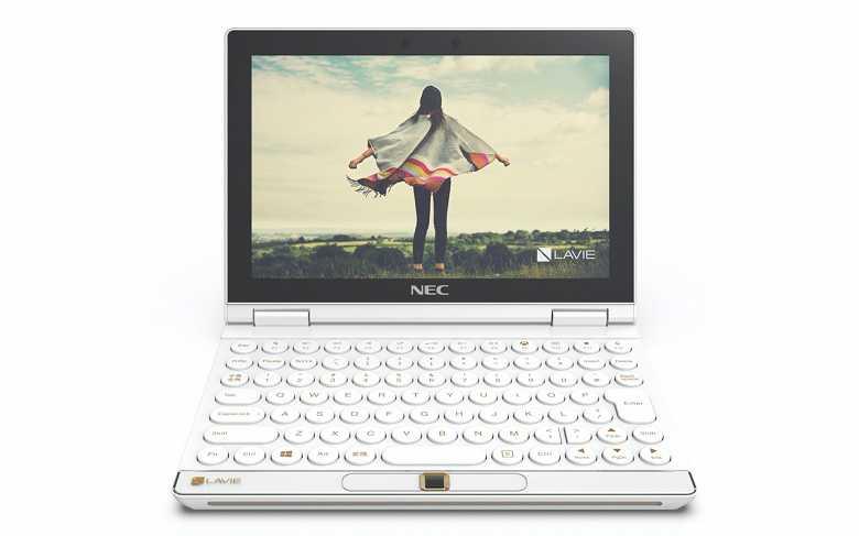 Lenovo и NEC выпустили маленький ноутбук, трансформирующийся в игровую приставку (LAVIE MINI Facing Forward Crystal White large)