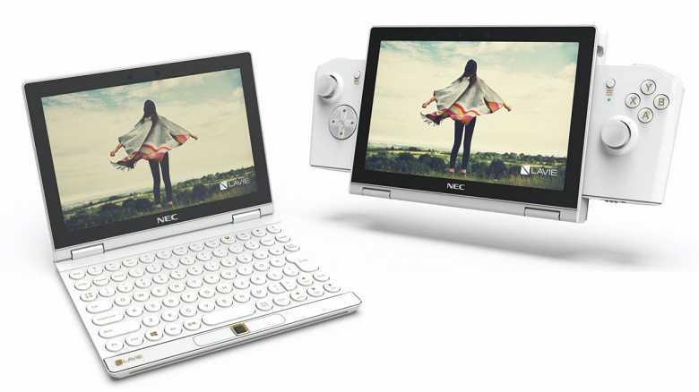 Lenovo и NEC выпустили маленький ноутбук, трансформирующийся в игровую приставку (LAVIE MINI concept)