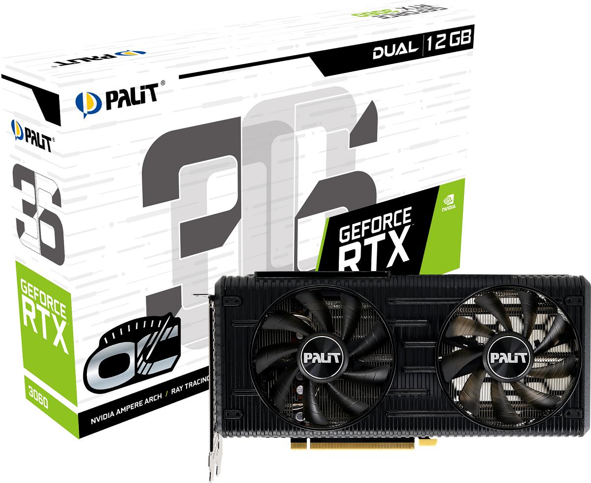 Palit выпустил видеокарты GeForce RTX 3060 Dual и StormX (Palit RTX3060 DUAL OC)