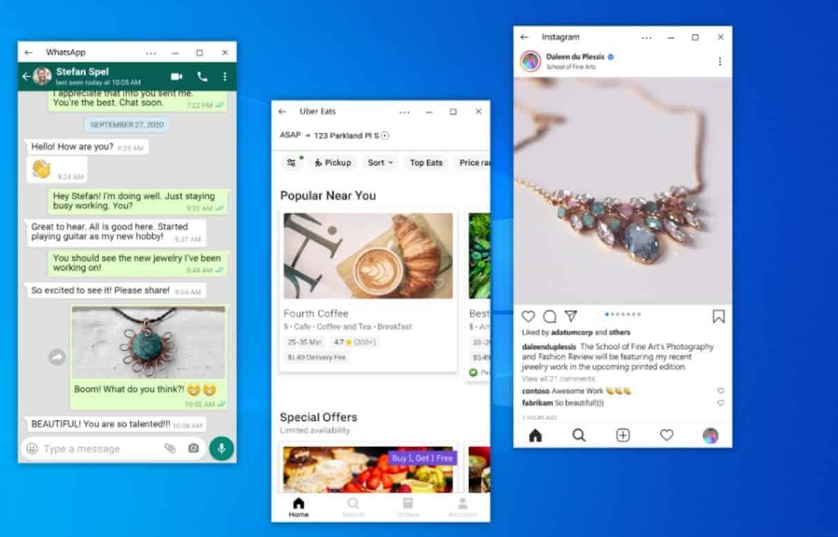 Windows 10 теперь может транслировать несколько Android-приложений одновременно (android apps)