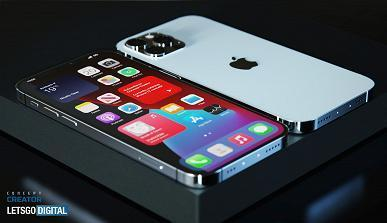 Вот как может выглядеть iPhone 12S Pro с уменьшенной чёлкой (iphone under display touch id sensor large)