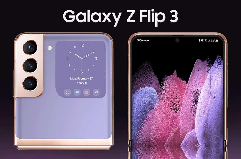 В сеть слили качественные рендеры Samsung Galaxy Z Flip 3 (z flip 3 2)
